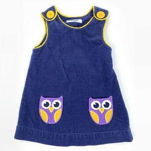 Baby Boden Owl Pocket Jumper Dress